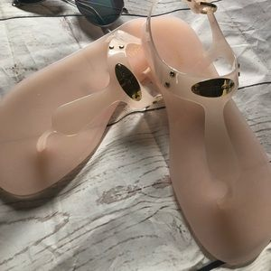NWOT Michael Kors Jelly Sandals in box